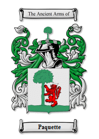 Paquette Family Crest